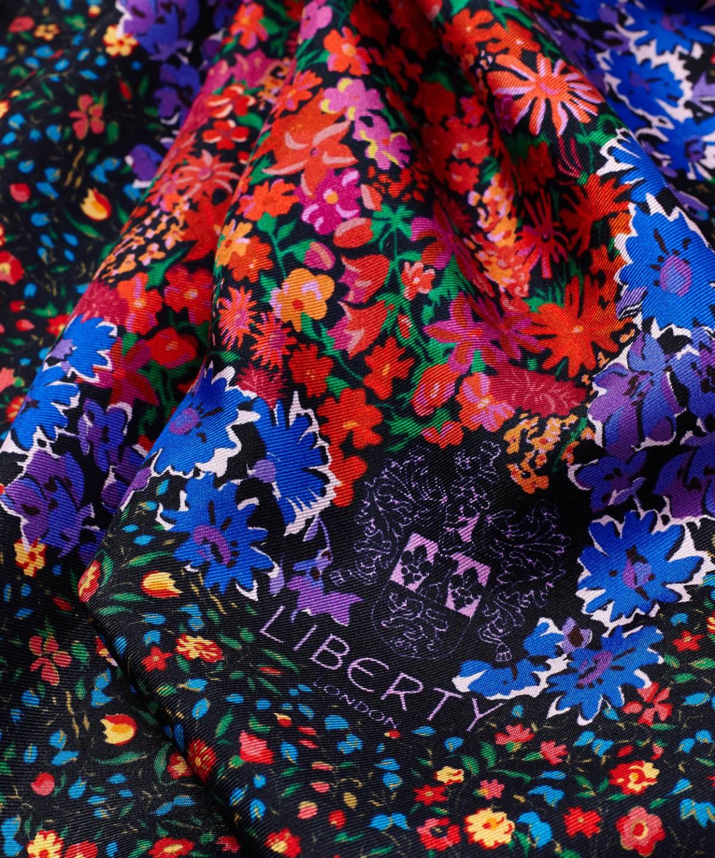 フローラル メドレー 45x45 シルクツイル スカーフ 詳細画像
