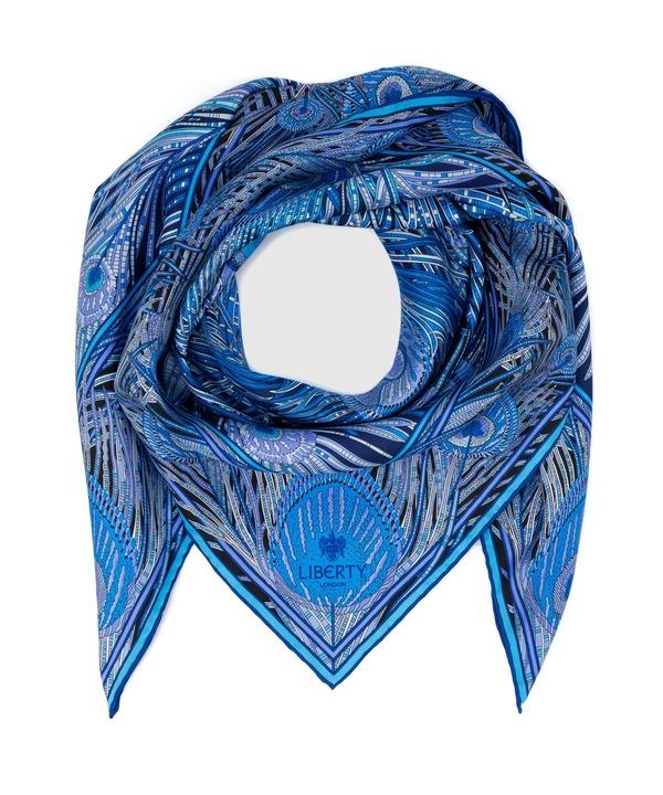ヘラ 90x90 シルク ツイル スカーフ 詳細画像