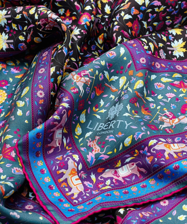 イムラン 90x90 シルク ツイル スカーフ 詳細画像