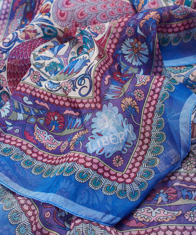 ピーコック ガーデン 70x180 シルク シフォン スカーフ 詳細画像