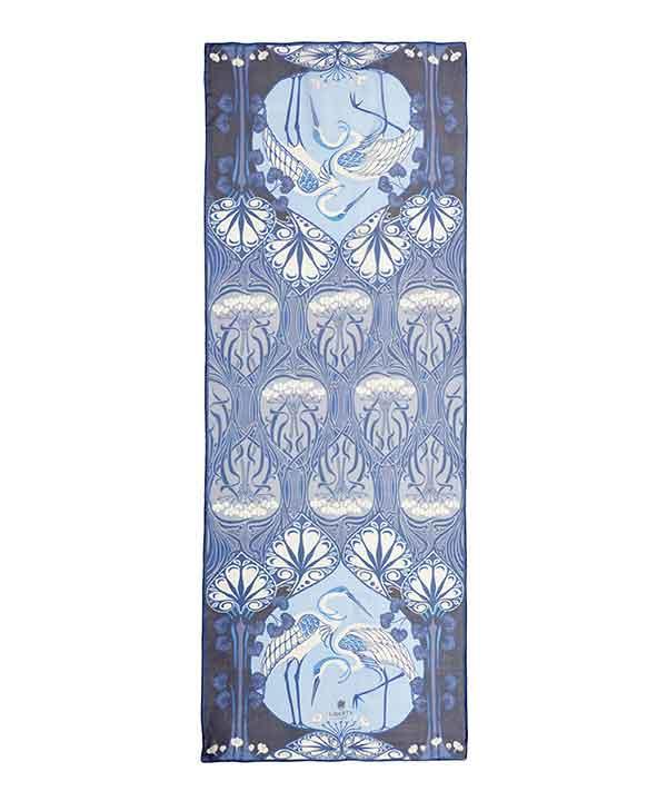 ヘロン フローラル 70x180 シルク シフォン スカーフ 詳細画像
