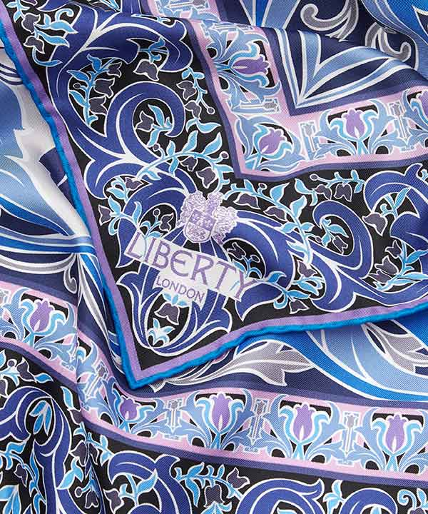 アルバニー90x90 シルク ツイル スカーフ 詳細画像