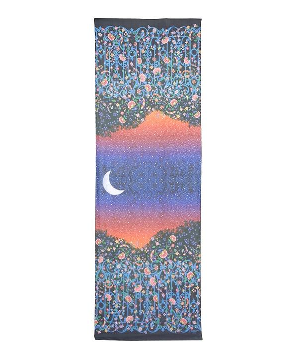 ミッドナイト コンストレーション 70x200 シルクシフォン スカーフ 詳細画像