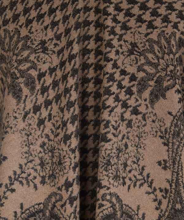 フローレンス 140x140 ジャカード ポンチョ 詳細画像