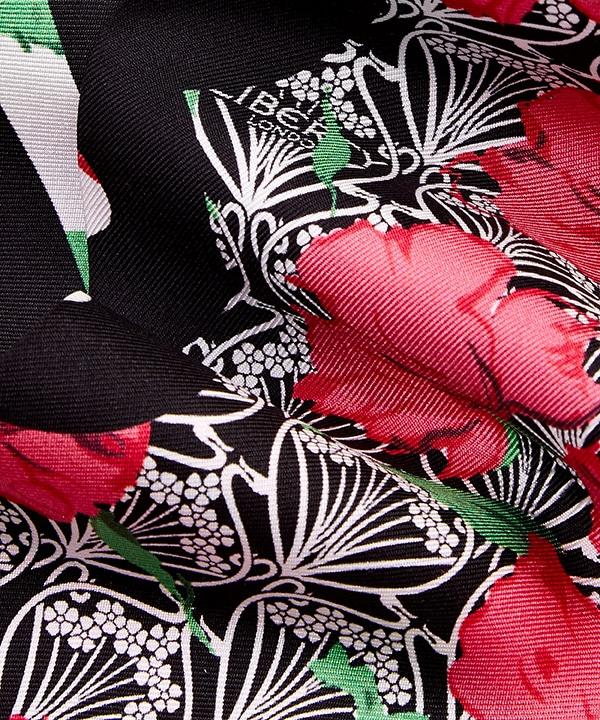 リチャード クイン カーライン アイフィス 10x140 シルク ツイル スカーフ 詳細画像