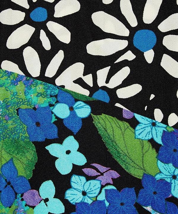 リチャード クイン コラージュ 10x140 シルク ツイル スカーフ 詳細画像