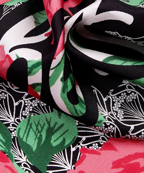 リチャード クイン カーライン アイフィス 45x45 シルク ツイル スカーフ 詳細画像