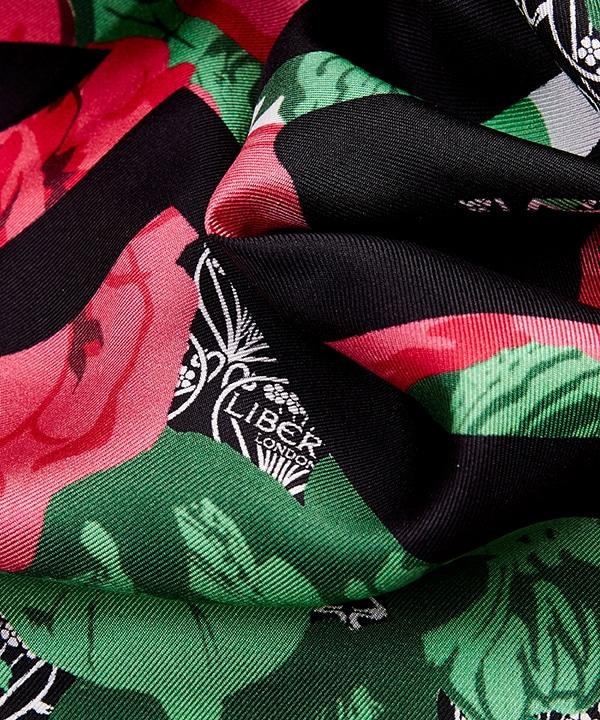 リチャード クイン カーライン アイフィス 90x90 シルク ツイル スカーフ 詳細画像