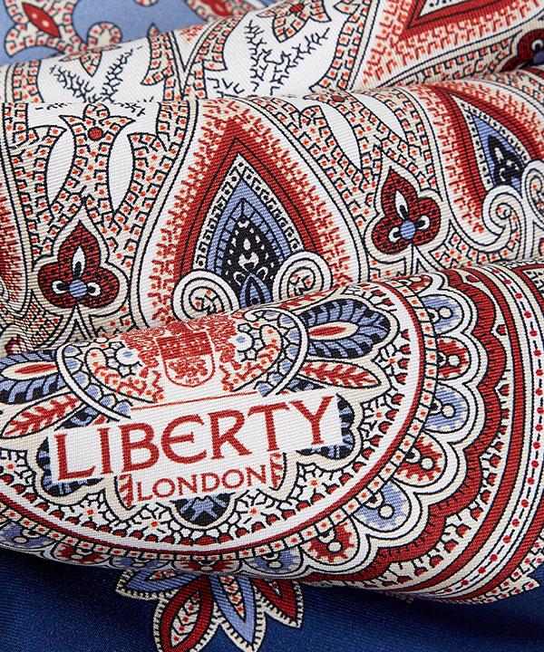 オーバートーン ペイズリー70x70 シルク ツイル スカーフ 詳細画像