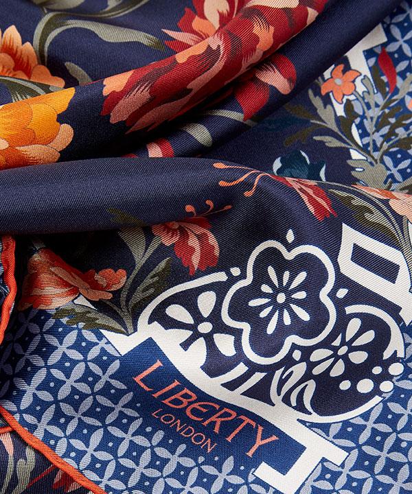 ペイシャンス 90x90 シルク ツイル スカーフ 詳細画像