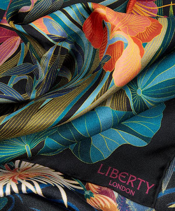 キョウト ガーデン 90x90 シルク ツイル スカーフ 詳細画像