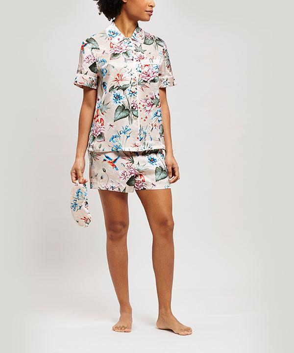 ケイコ シルク シャルムーズ ショート パジャマ セット 詳細画像