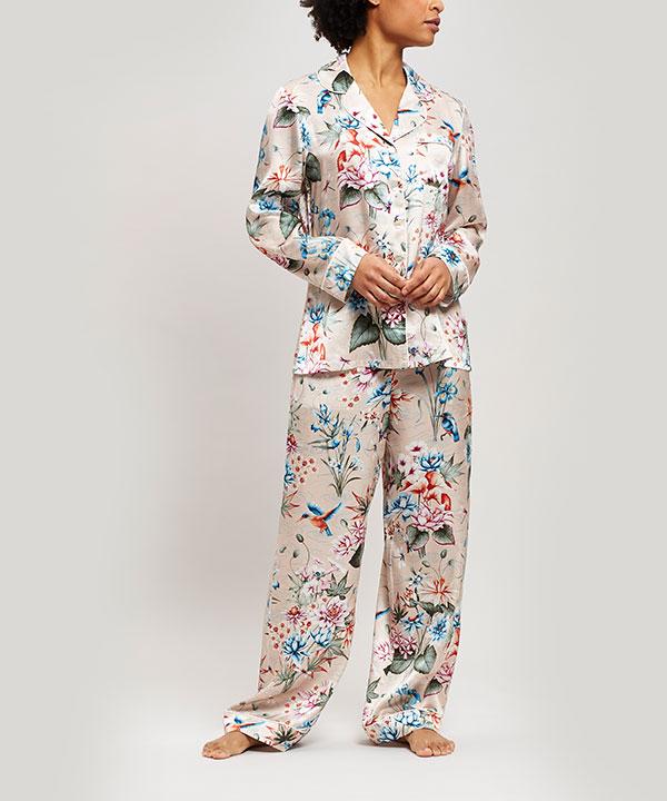 ケイコ シルク シャルムーズ ロング パジャマ セット 詳細画像