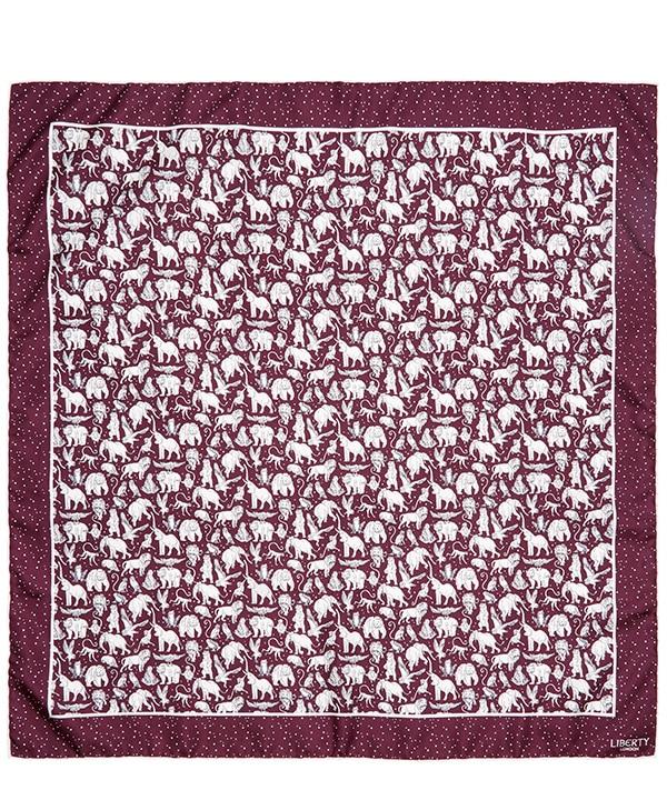 ミッドナイト ミスチーフ 70x70 シルク ツイル スカーフ 詳細画像