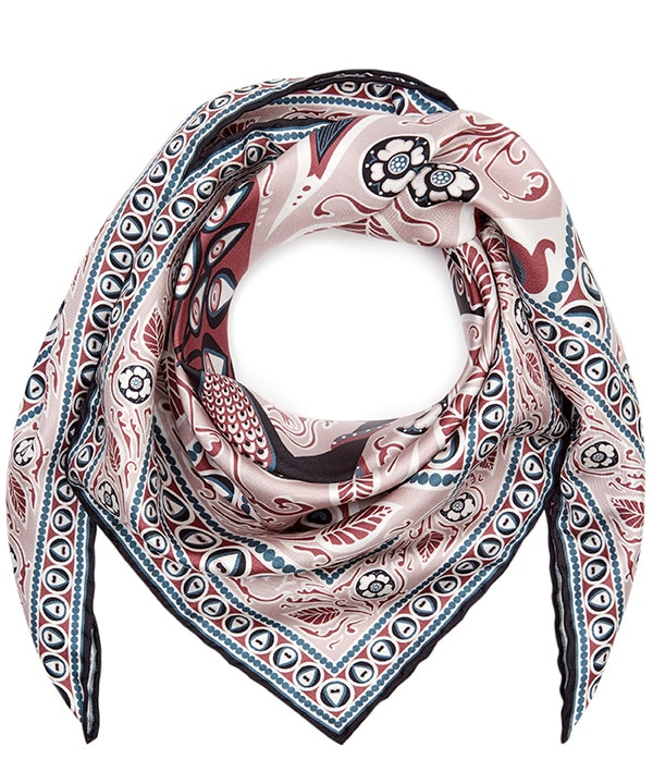 フランシス  70x70 シルク ツイル スカーフ 詳細画像