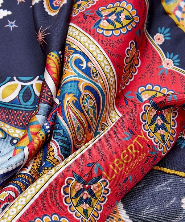 ハーティ 90x90 シルク ツイル スカーフ 詳細画像