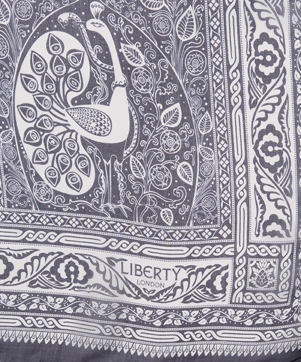 リンリー 110x130 シルクシフォン スカーフ 詳細画像