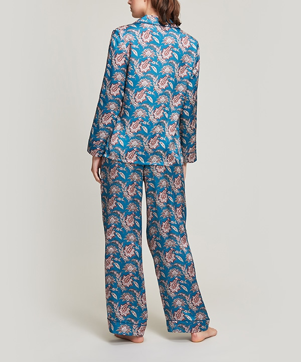 レオンティーニ シルク パジャマ セット 詳細画像