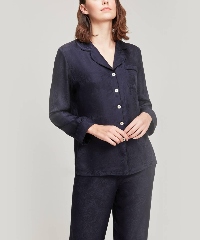 ヘラ シルク ジャカード パジャマ セット 詳細画像