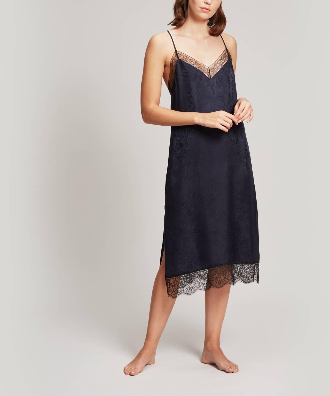 ヘラ シルク ジャカード スリップドレス 詳細画像
