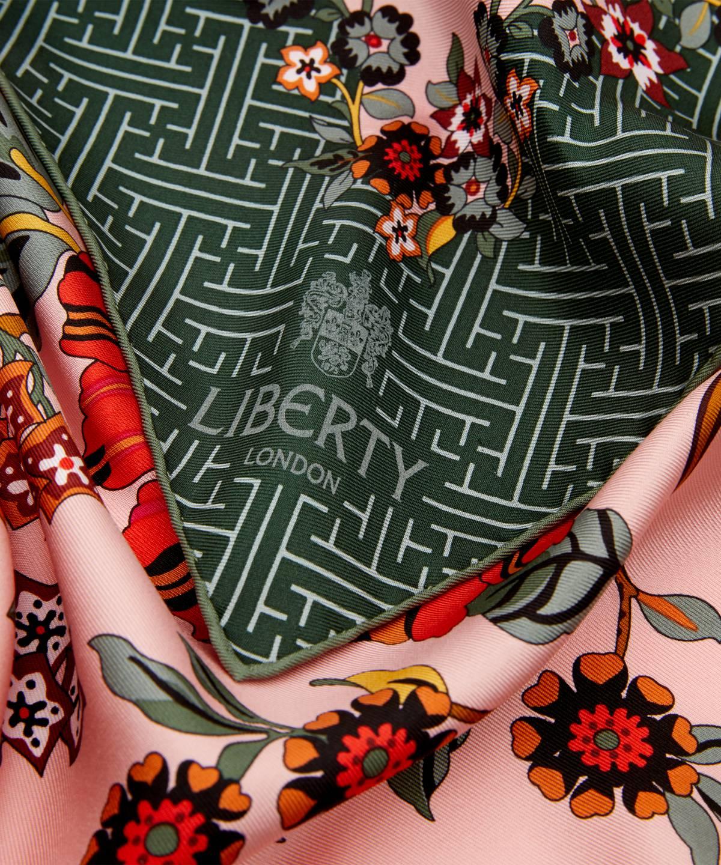 クリステル 90x90 シルク ツイル スカーフ 詳細画像