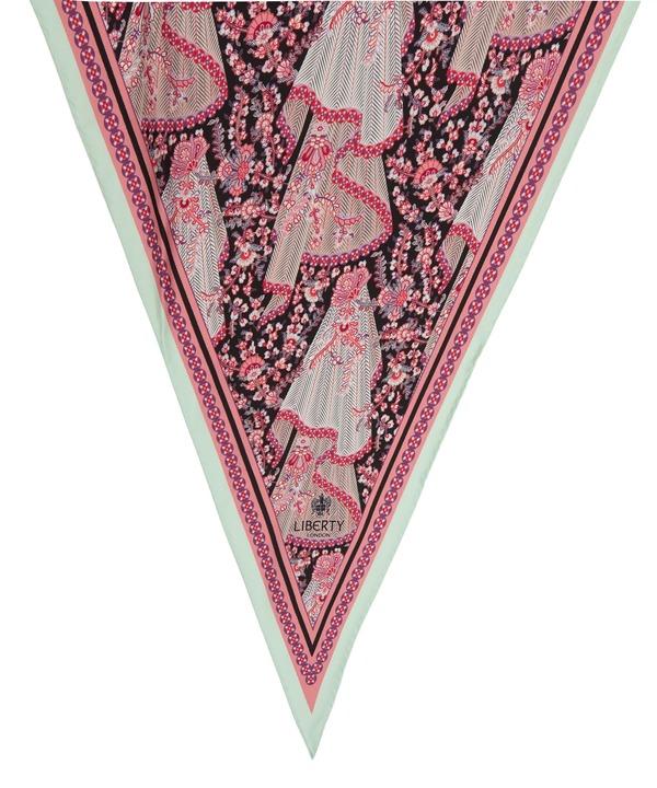 ドーラ 70x180 ローゼンジ シルク ツイル スカーフ 詳細画像