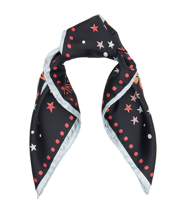 アイアンシ バレンタイン 45x45 シルク ツイル スカーフ 詳細画像