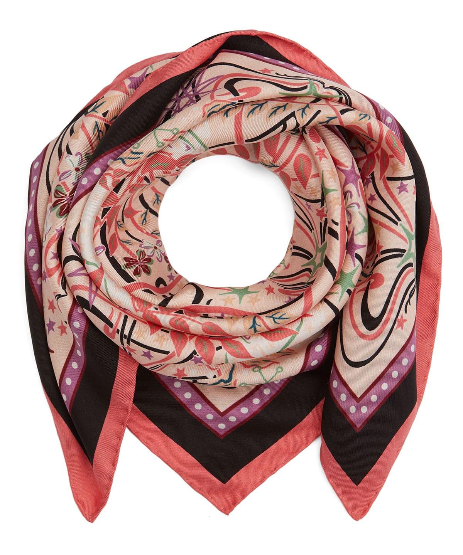 アイアンシ バレンタイン 70x70 シルク ツイル スカーフ 詳細画像