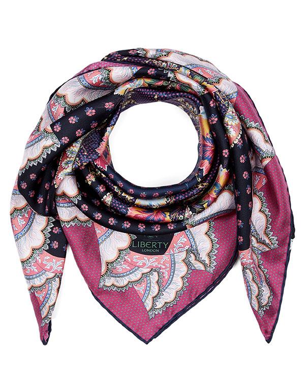 リタ アンド セシル 90x90 シルク ツイル スカーフ 詳細画像