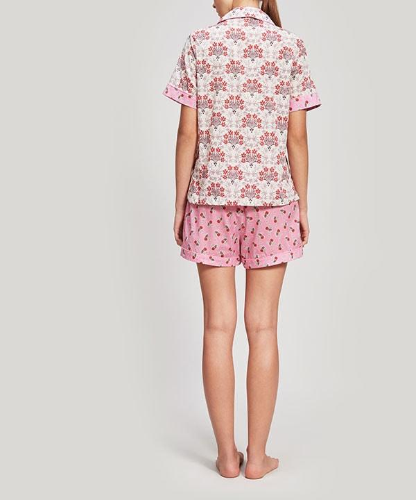 エステル&ポピー タナローン コットン ショート パジャマ セット 詳細画像
