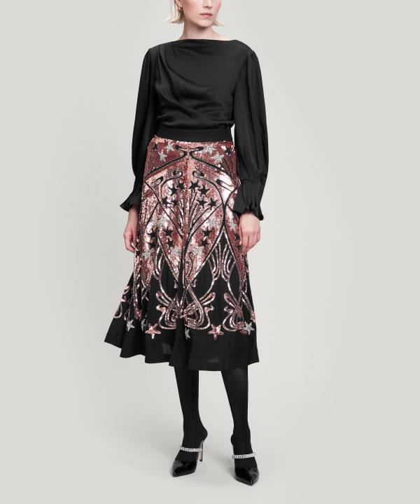アイアンシ スター スパンコール スカート 詳細画像