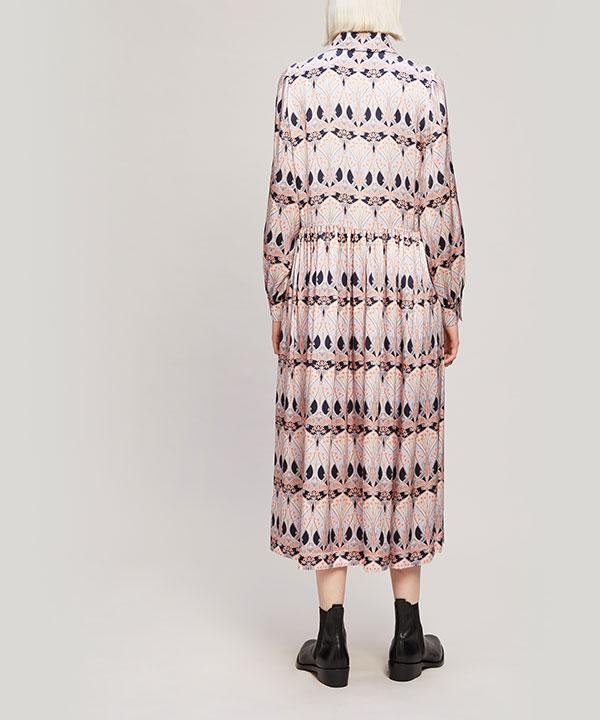 エトワール ド メール シルク サテン シャツドレス 詳細画像