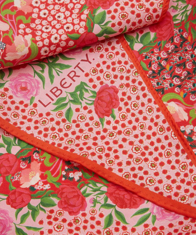 アニータ 36x106 ローゼンジ シルク ツイル スカーフ 詳細画像