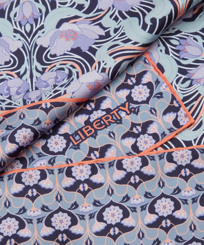 アリシア 70x70 シルク ツイル スカーフ 詳細画像