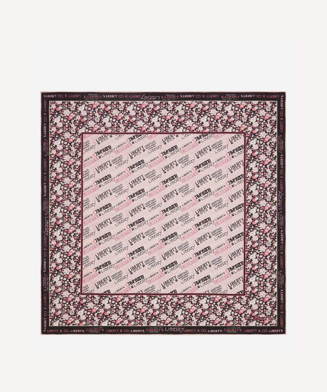 リバティ ロゴ 70x70 シルク ツイル スカーフ 詳細画像