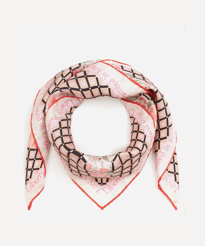 アニータ 90x90 シルク ツイル スカーフ 詳細画像