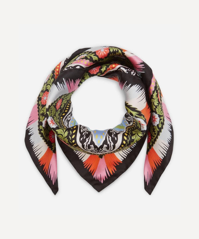 オーロラ 70x70 シルク ツイル スカーフ 詳細画像