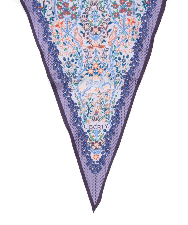 シルバーウッド 36x106 ローゼンジ シルク ツイル スカーフ 詳細画像