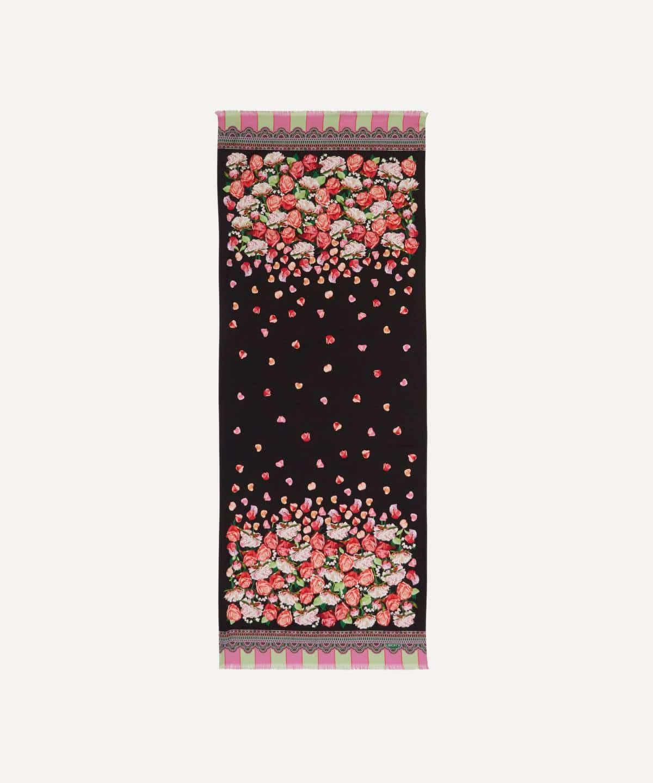 フローラル・ストーム 180x70 シルク ツイル スカーフ 詳細画像