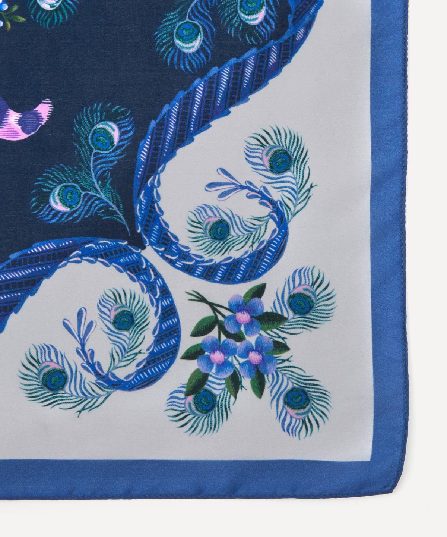 スピタルフィールズ 130x110 シルク モラーレ スカーフ 詳細画像